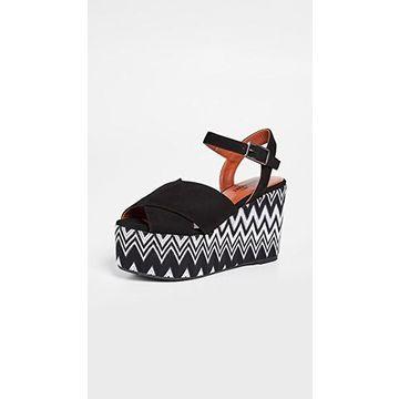 Castaner x Missoni Engie Wedge Sandals