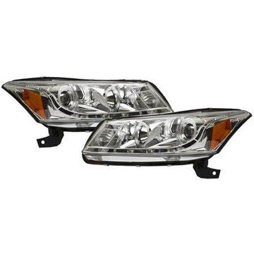 IPCW (CWS-716C2) 2008-2012 Accord 4DR Projector Headlights Chrome, DRL Look
