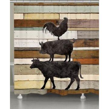 Laural Home Farmhouse Animals Shower Curtain Bedding