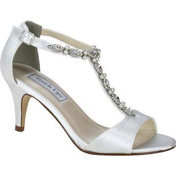 Touch Ups Women's Donna T Strap Sandal White Satin