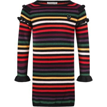 Sonia Rykiel Multicolor Dress For Girl With Cat