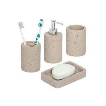 Honey Can Do Natural 4-Pc. Bathroom Accessories Set