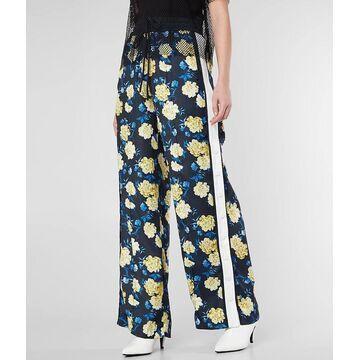 KENDALL + KYLIE Satin Floral Wide Leg Pant