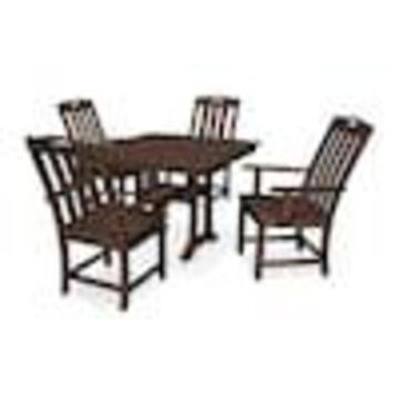 Trex Outdoor Furniture Yacht Club 5-Piece Brown Frame Dining Patio Dining Set with Dining