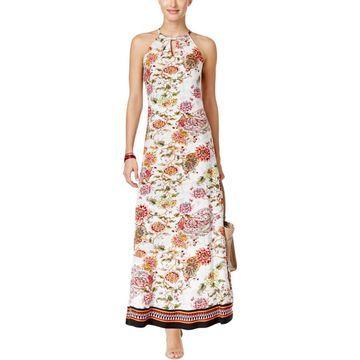 ECI Womens Floral Sleeveless Maxi Dress
