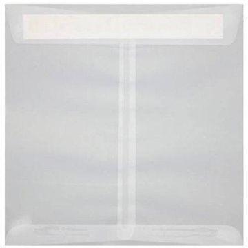 7 1/2 x 7 1/2 Square Envelopes - Clear Translucent (500 Qty.)