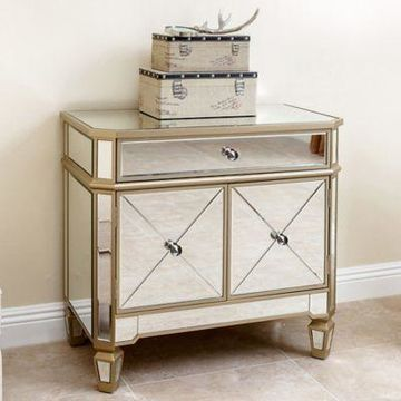 Abbyson Living Alexis Console Table in Silver