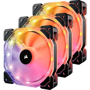 CORSAIR - HD Series 120mm Case Cooling Fan Kit with RGB lighting