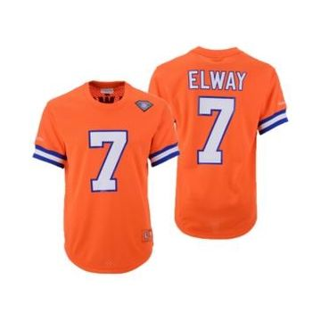 Mitchell & Ness Men's John Elway Denver Broncos Mesh Name and Number Crewneck Jersey