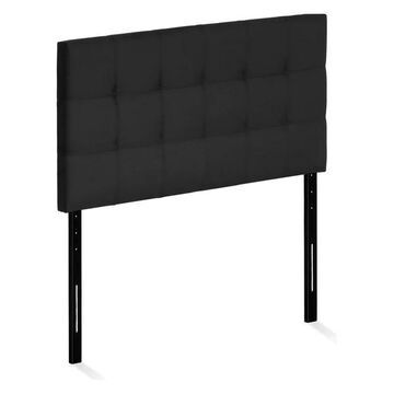 Furinno Roanne Tufted Headboard, Black, Twin