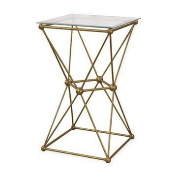Sterling Industries Molecular Square Accent Drum Table