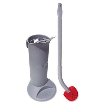 Ergo Toilet Bowl Brush Complete: Wand, Brush Holder & 2 Heads