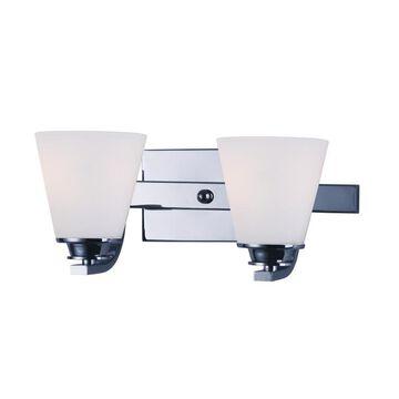 Maxim Lighting Conical 2-Light Chrome Traditional Vanity Light