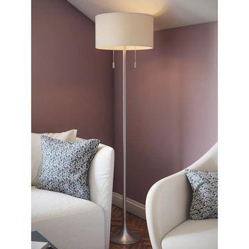 Kent 61-inch Brushed Steel Floor Lamp