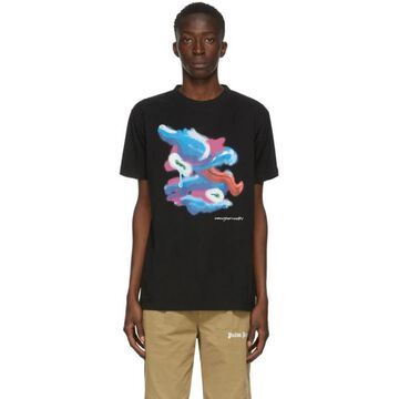 Marcelo Burlon County of Milan Black Fools Tongue T-Shirt