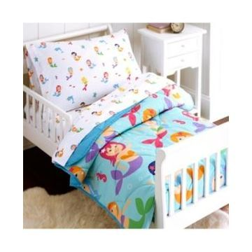 Wildkin's Mermaids 4 Pc Bed in a Bag - Toddler Bedding