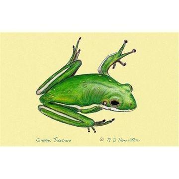 Betsy Drake DM040G Green Tree Frog Door Mat 30