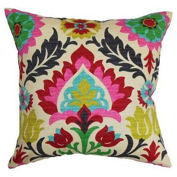 Pink Boho Throw Pillow - The Pillow Collection