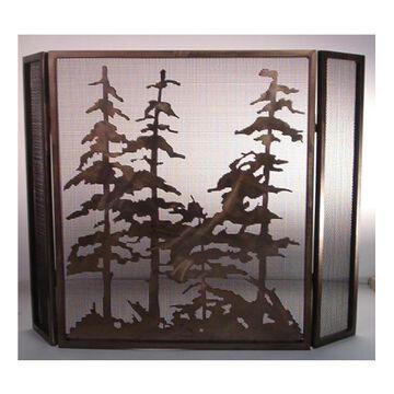 12393 30 Inch Hx40 Inch W Folding Trees Firescreen A/C