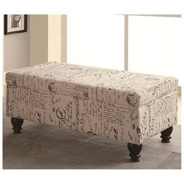 French Script Storage Bench by Coaster