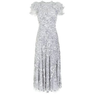 Shirley Ribbon embellished ankle-length gown