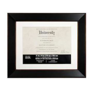 Black & Brown 2-Toned Wooden Frame By Studio Decor