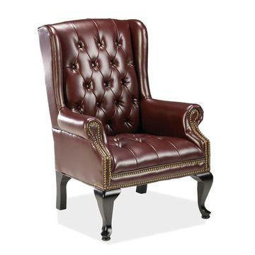 Lorell 777 QA Queen Anne Wing Back Reception Chair (LLR60605)
