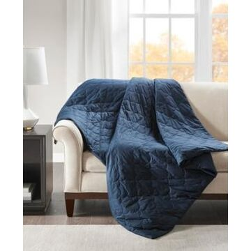 Beautyrest Deluxe 12lb Quilted Cotton Weighted Blanket Bedding