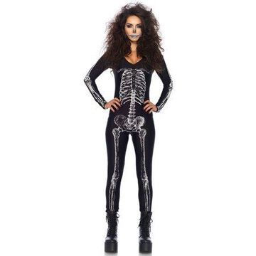 Leg Avenue X-Ray Skeleton Catsuit with Zipper Back, Large, Black/White