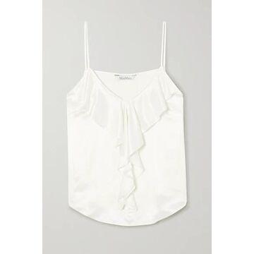 Max Mara - Ruffled Silk Camisole - White