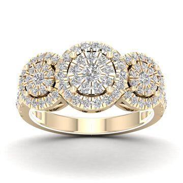De Couer 1ct TDW Diamond Cluster Ring - Yellow