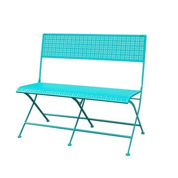 Jeco Qadir Blue Iron Park Bench