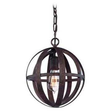Troy Lighting Flatiron 1-Light Ceiling Pendant in Weathered Iron
