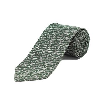 Ermenegildo Zegna Men's Silk Pattern Tie Green - No Size