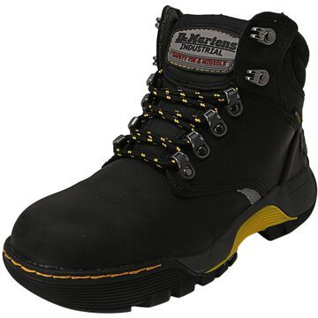 Dr. Martens Ridge St Connection Wp + Rubbery Mid-Top Leather Industrial and Construction Shoe