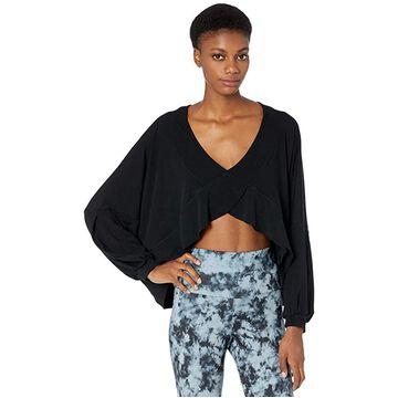 Onzie Om Top (Black) Women's Clothing