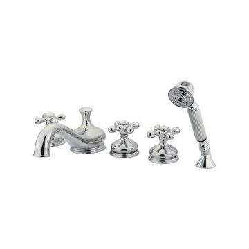 Kingston Brass Royale Three Handle Roman Tub Filler With Hand Shower