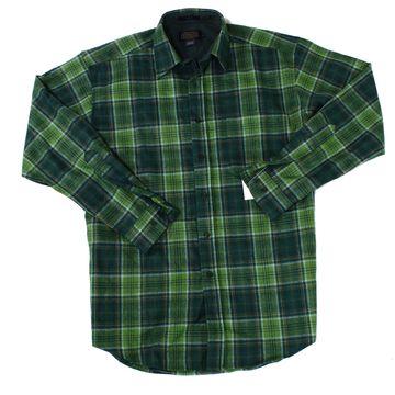 Pendleton Mens Shirts Green Size Medium M Plaid Button Down Wool