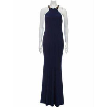 Halterneck Long Dress Blue