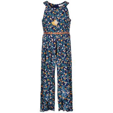Big Girls Floral-Print Ruffle Jumpsuit