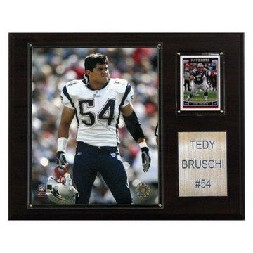 C&I Collectables NFL 12x15 Tedy Bruschi New England Patriots Player Plaque