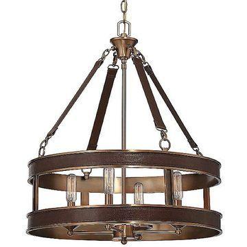 Harrington Drum Pendant by Savoy House