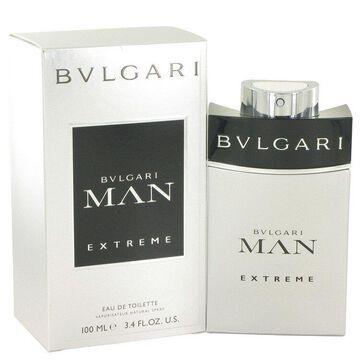 3 Pack Bvlgari Man Extreme by Bvlgari Eau De Toilette Spray 3.4 oz for Men