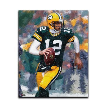 Aaron Rodgers Green Bay Packers Highland Mint 16'' x 20'' Gallery Stretch Canvas