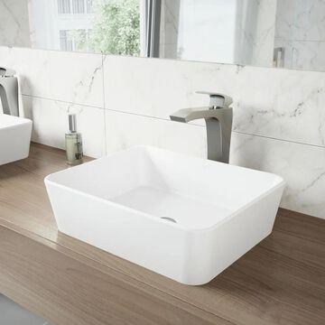 VIGO Blackstonian Brushed Nickel Vessel Bathroom Faucet
