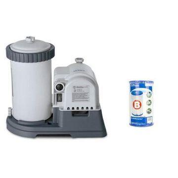 Intex 2500 GPH Swimming Pool Filter Pump & Type B Replacement Filter Cartridge