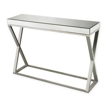 Sterling Industries Klein Mirror and Stainless Console Table