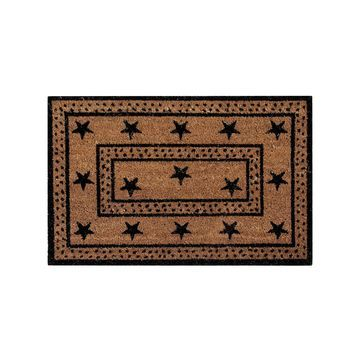 Better Trends Star Coir Rectangular Outdoor Doormat