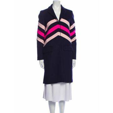 Msgm Wool Striped Coat Wool Msgm Wool Striped Coat
