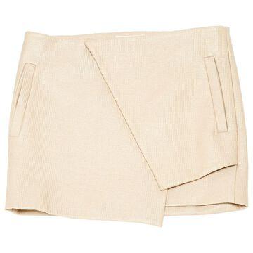 Ellery Beige Synthetic Skirts